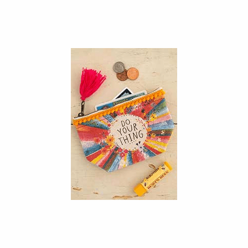 """Do Your Thing Mini Canvas Pouch - """"Natural Life"""""""
