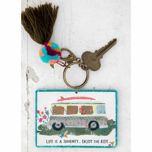 """Enjoy the Ride Chirp Keychain """"Natural Life"""""""