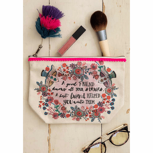 "Good Friends Canvas Pouch - ""Natural Life"""