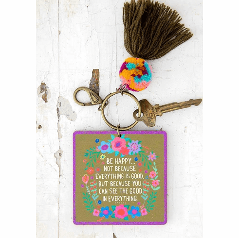 """Good in Everything Chirp Keychain """"Natural Life"""""""