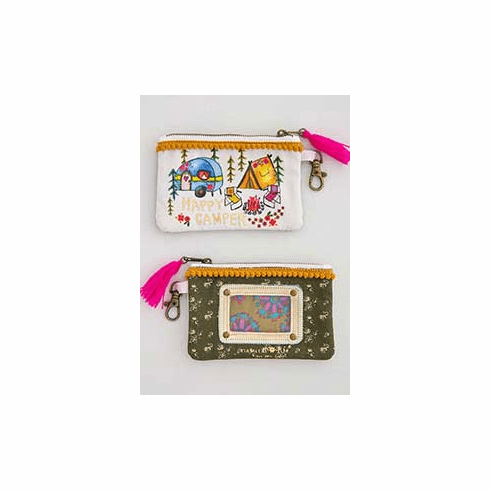 "Happy Camper Id Pouch - ""Natural Life"""