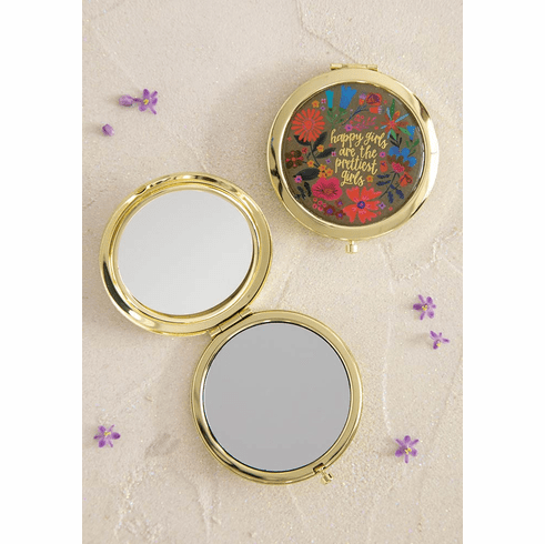 "Happy Girls Compact Mirror - ""Natural Life"""