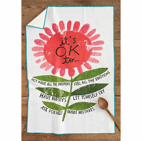 """It's Ok Cotton Hand Towel - """"Natural Life"""""""