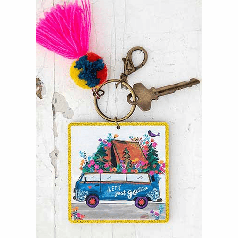 "Lets Just Go Chirp Keychain ""Natural Life"""