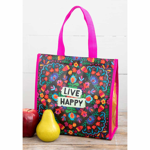 "Live Happy Insulated Lunch Tote - ""Natural Life"""