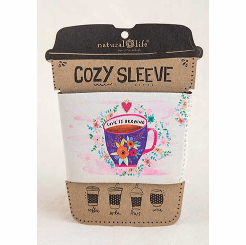 "Love is Brewing Cozy Sleeve - ""Natural Life"""