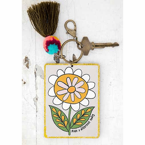 """Make A Difference Chirp Keychain """"Natural Life"""""""