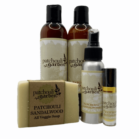 Patchouli Sandalwood Gift Set w/ Bar Soap