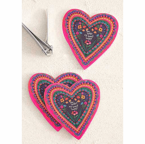 "Set of 3 Heart Emery Boards - ""Natural Life"""
