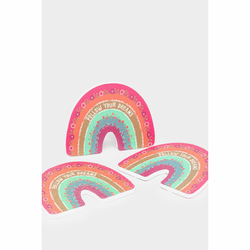 """Set of 3 Rainbow Emery Boards """"Natural Life"""""""