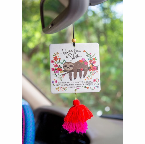 "Sloth Car Air Freshener - ""Natural Life"""