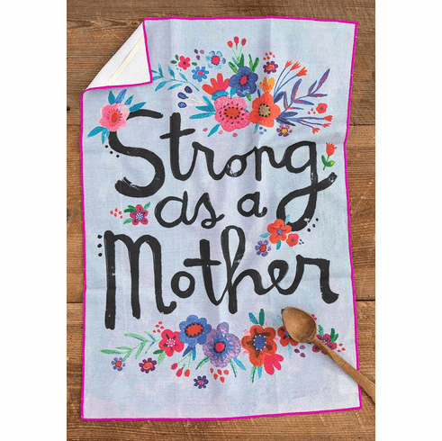 "Strong as a Mother Cotton Towel - ""Natural Life"""