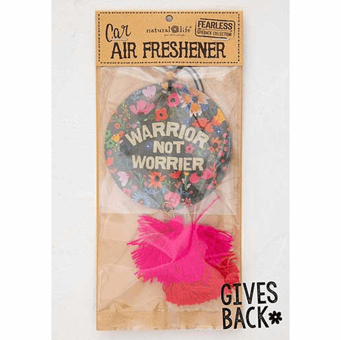 "Warrior Car Air Freshener - ""Natural Life"""