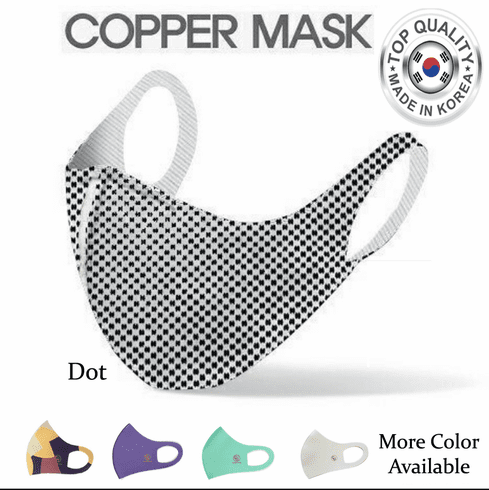 Copper Infused Face Mask Washable Reusable for Summer