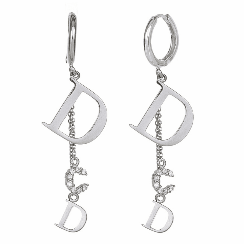 Dior pure silver earring