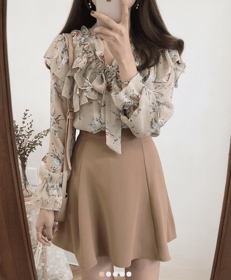Flower spring blouse