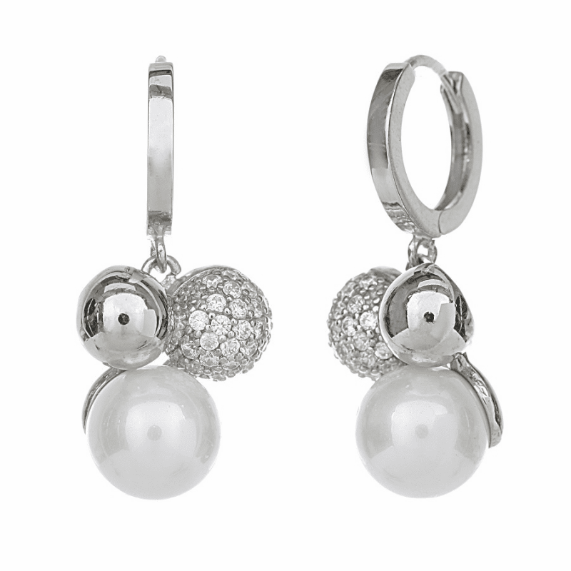 Pure silver earring