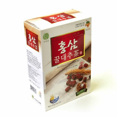 Red Ginseng Honey Jujube Tea 1.13oz(32g) 12 Sticks