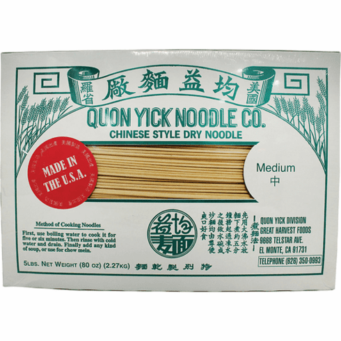 QUON YICK NOODLES M  均益干面(中)30 LBS