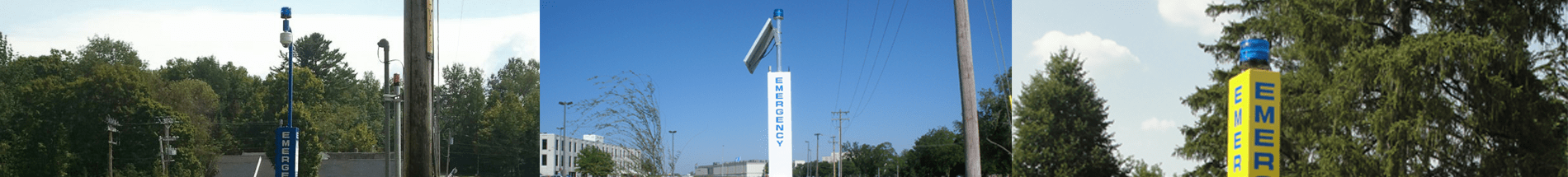 Blue Light Towers, Pedestals & Call Stations