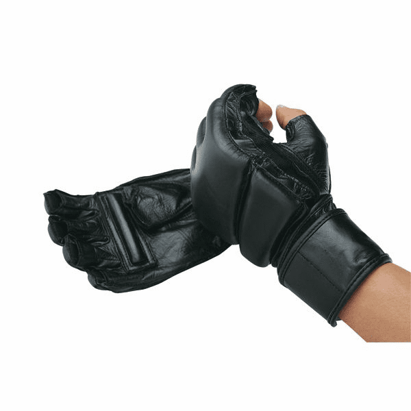 Leather Wrap MMA Gloves