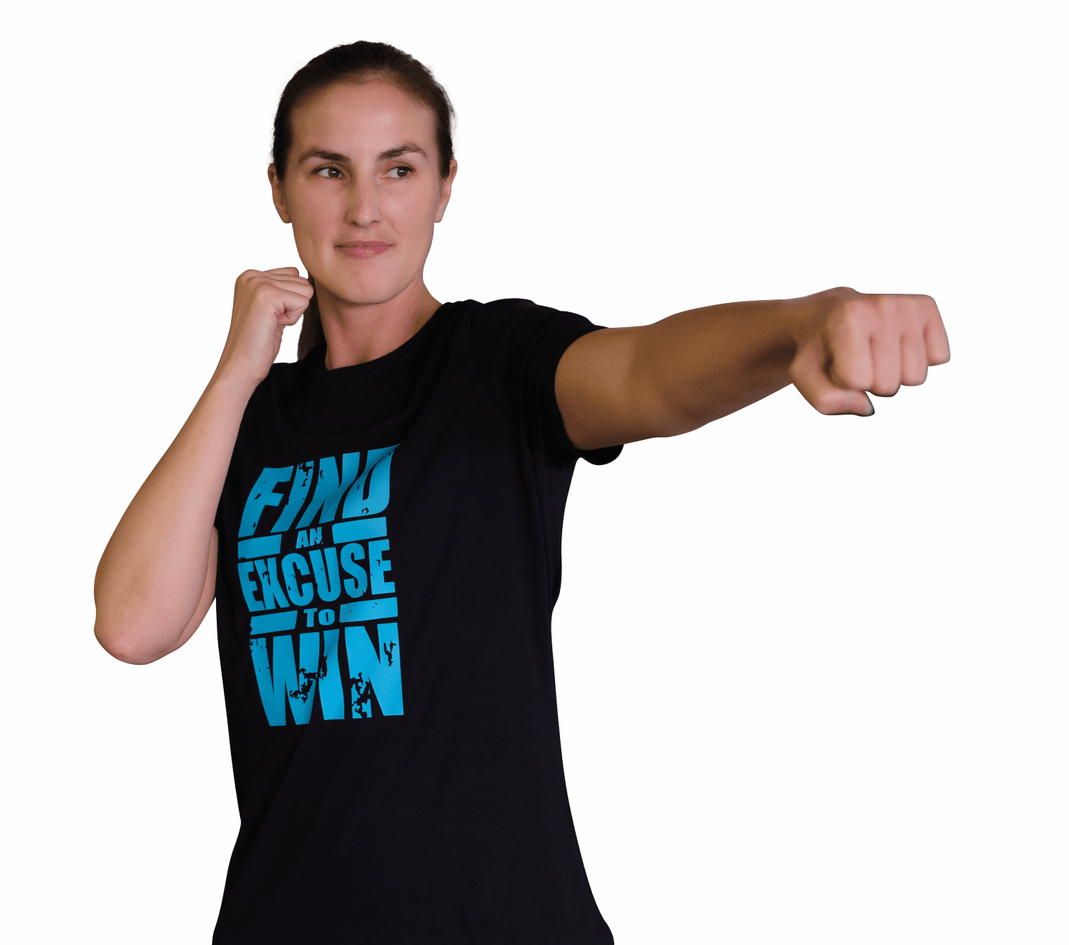 """Women's Relaxed Tee- """"Find an Excuse to Win"""""""