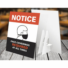 Counter Sign w/Easel-back - Face mask OP1 (set of 3) <br> DTC-CC-001
