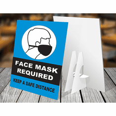 Counter Sign w/Easel-back - Face mask OP2 (set of 3) <br> DTC-CC-002