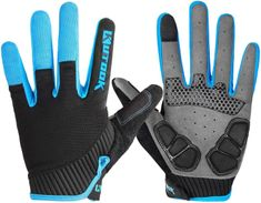 KUTOOK Autumn Pad Full Finger Bike Gloves Finger Tip with Touch Screen Function