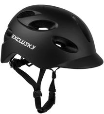 Exclusky Adult Bike Helmet with Rechargeable USB Safety Light for Urban Commuter CPSC Certified