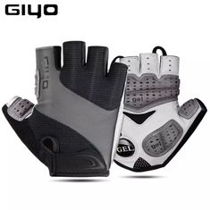Giyo Bicycle Half Finger Gloves Breathable Lycra Fabric Men Women Cycling Gloves Road Bike Riding MTB DH Racing Outdoor Mittens
