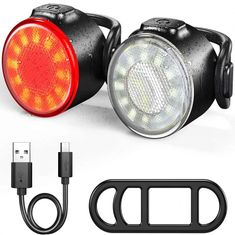 Mini LED Bicycle Tail Light USB Chargeable Bike Rear Lights IPX6 Water
