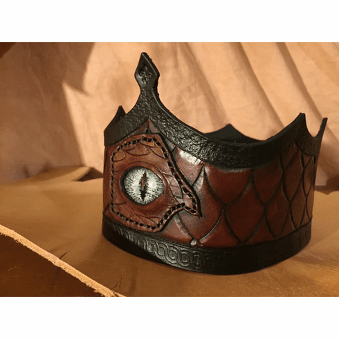 Dragon King - Crown Handmade Leather with Eye