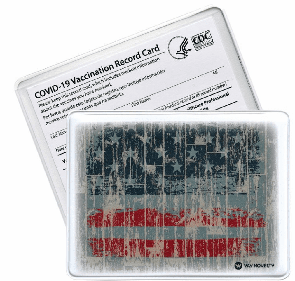 Vaccination Card Holder - American Flag