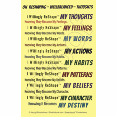 On ReShaping™ WellBalanced™ Thoughts Poster