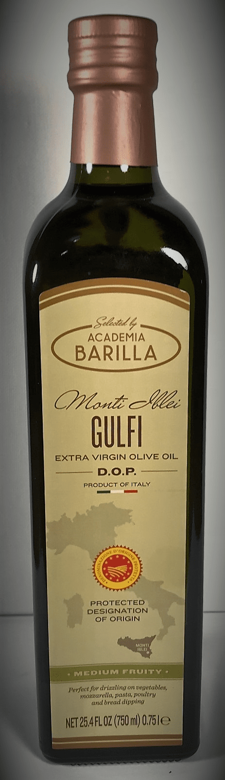 Accademia Barilla Extra Vergione Olive Oil Imported from Italy - 25.4 FL.OZ. Bottle