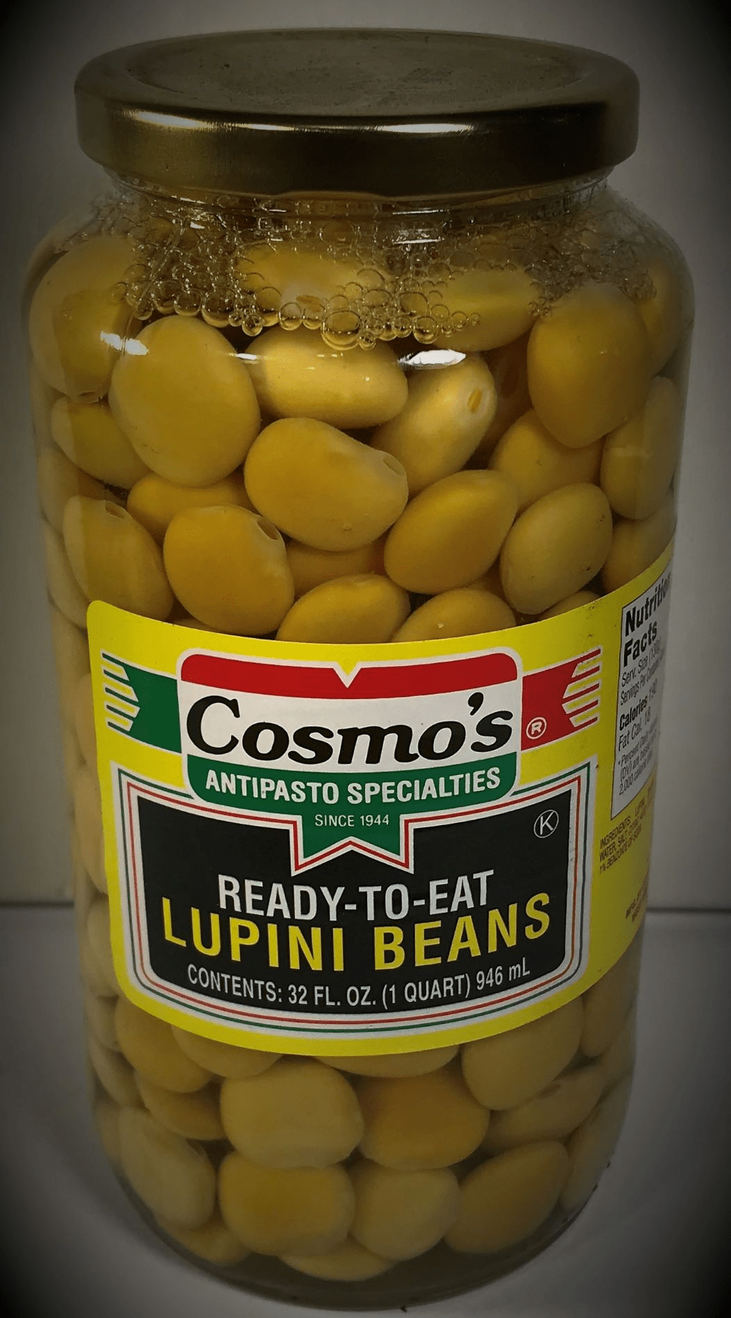 Cosmo's Ready to eat Lupini Beans - 32 FL. OZ.