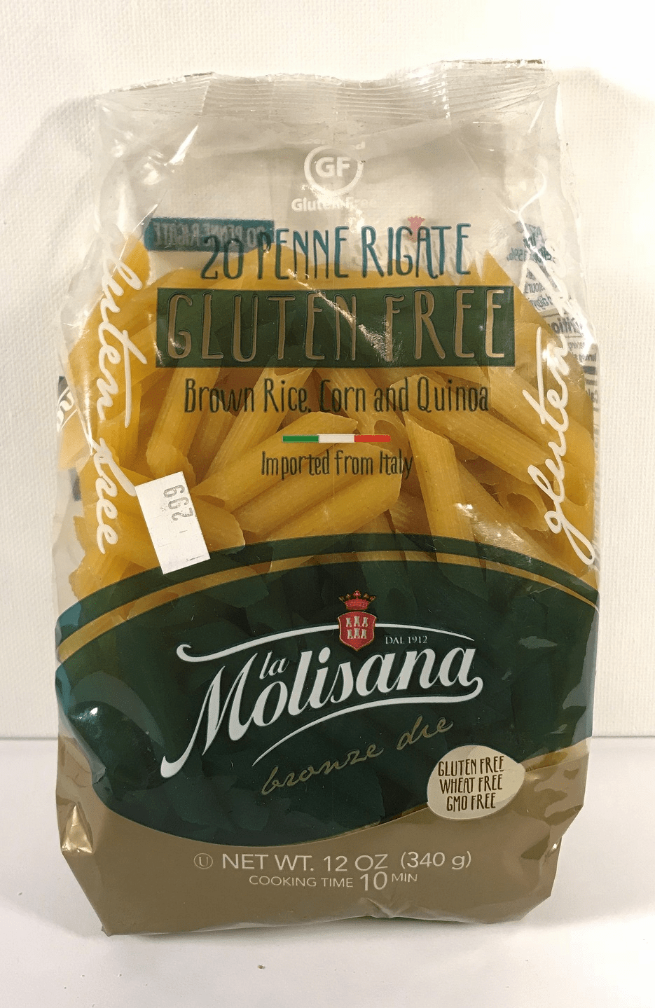 """La Molisan Pasta """"Bronze Die Extrusion"""" Imprted from Italy Gluten Free - 12 Oz. Bag"""