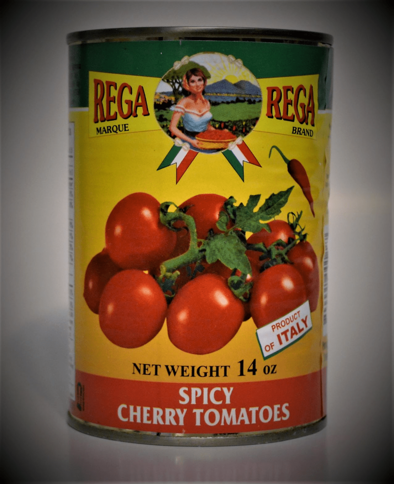 Rega Cherry Tomatoes Imported from Italy 14 Oz. Can
