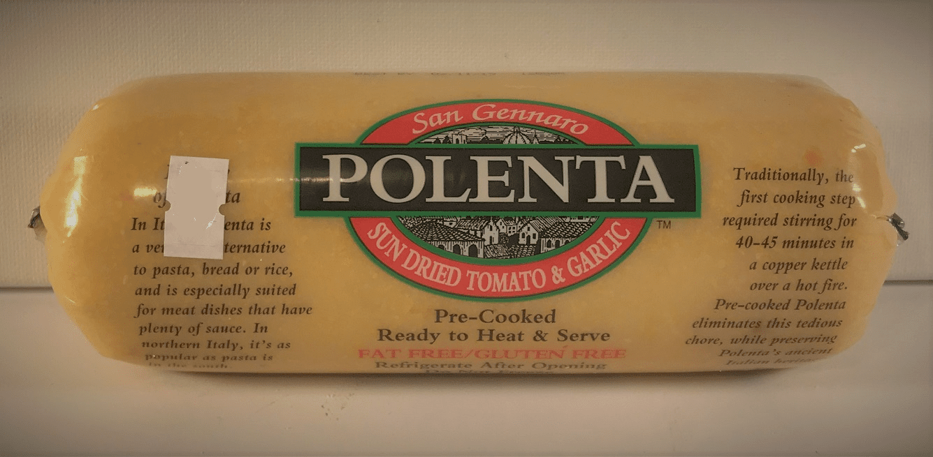 San Gennaro Polenta Pre-Cooked and ready to heat and serve. - 24 OZ