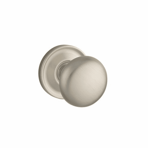 Baldwin 5015.056.priv Lifetime Satin Nickel Privacy 5015 Solid Brass Knob with Your Choice of Rosette