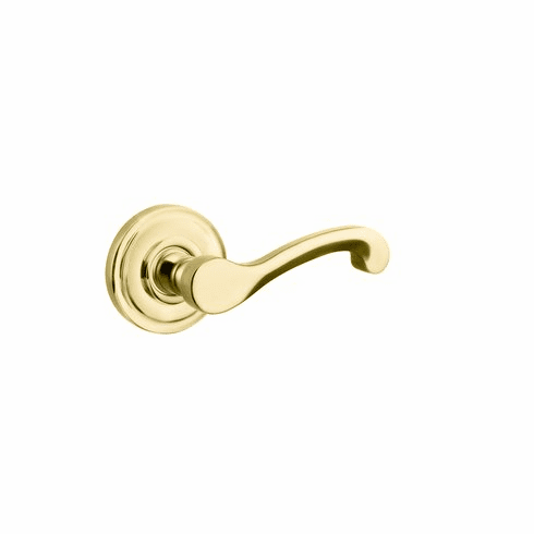 Baldwin 5445V.003.pass Lifetime Polished Brass Passage Classic Lever with 5048 Rose