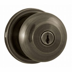 Weslock 640I-A Antique Brass Impresa Keyed Entry Knob