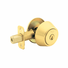 Yale 820-US3 Polished Brass Single Cylinder Deadbolt