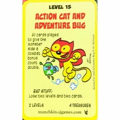 ACTION CAT SUPER MUNCHKINS Chase Card