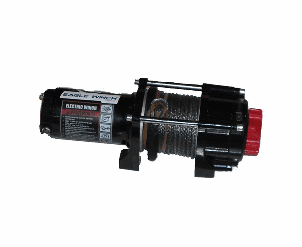 "Eagle 3500 lb. Winch - 3/16"" Synthetic Rope"