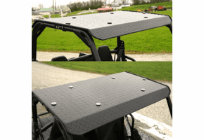Falcon Ridge Black Aluminum Diamond Plate Top - Polaris Ranger 150