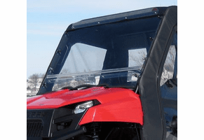 Falcon Ridge Folding Front Windshield - 2010-14 Mid Size Polaris Ranger 400 | 500 | 570 | 800 | EV