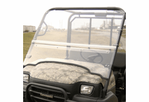 Falcon Ridge Folding Front Windshield - Kawasaki Mule 3000 | 3010 | 4000 | 4010