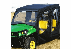 Falcon Ridge Full Cab Enclosure w| Aero-Vent Windshield - John Deere Gator S4 Crew